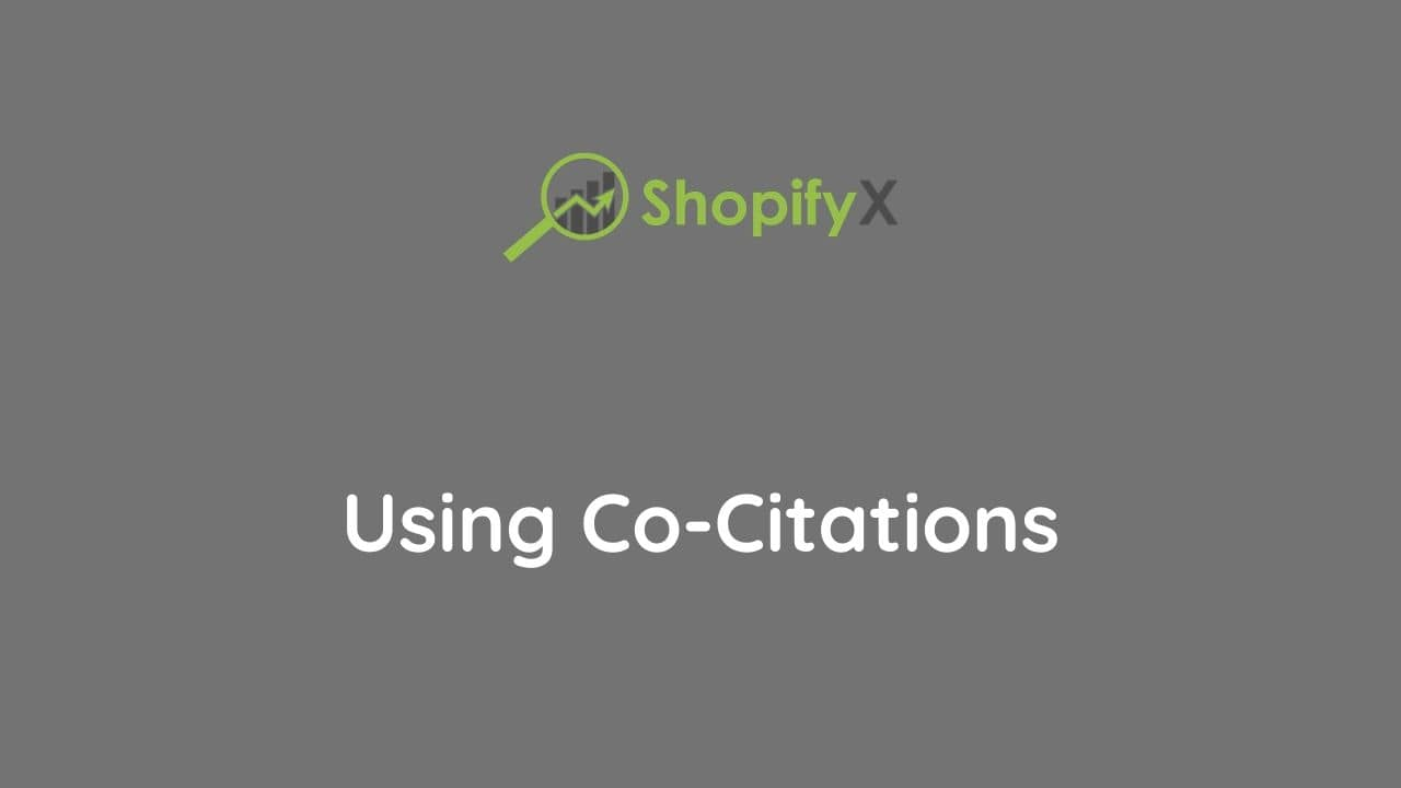 cocitations for ecommerce